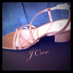 BNWB J. Crew Odette Suede Leather Sandals